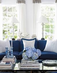 blue sofa set living room home decor ideas with blue color schemes for your blue living