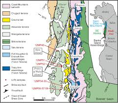 Southeast Alaska Map by U Pb And Hf Isotope Analysis Of Detrital Zircons From Paleozoic