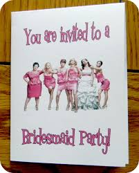 bridesmaids invitations bridesmaids bridal shower party she scribes