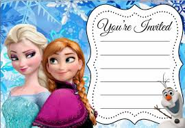 Free Printable Invitation Card Free Printable Disney Frozen Birthday Invitations Theruntime Com