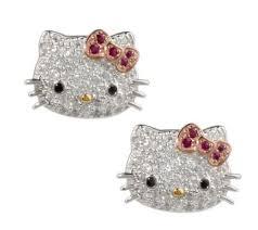 hello earrings hello diamonique sterling klassic button earrings