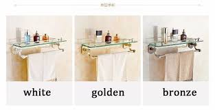 Bathroom Shower Shampoo Holder New Wall Mounted Bathroom Glass Washing Shower Shelf Bathroom