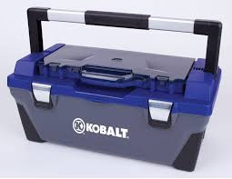 Kobalt Tool Cabinets Kobalt 22 In Blue Plastic Portable Tool Storage Project Parts Box