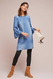 cloth flutter sleeve tunic dress anthropologie