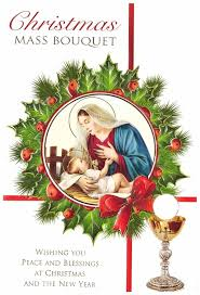 catholic christmas cards christmas mass bouquet wishing you peace and blessings at