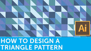 adobe illustrator random pattern flat design tutorials how to make a retro triangle pattern with