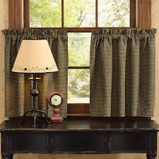 country star curtain tiers primitive home decors