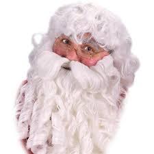 santa beard deluxe santa wig beard and eyebrows set buycostumes