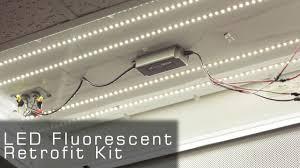 Led Fluorescent Light Fixtures Ul Listed Led Fluorescent Retrofit Kit Rather Led