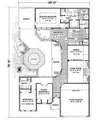 U Shaped House Plans With Pool In Middle Courtyard Home Plan When We Build In Mexico This Is What I Kinda