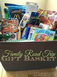 raffle gift basket ideas road trip gift basket family road trips basket ideas and road trips