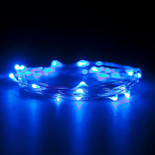 micro led 20 bright blue color lights battery operated on 7