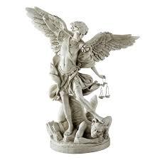 amazon com design toscano bonded marble st michael the archangel