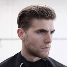 mens slicked back undercut hairstyle fade haircut