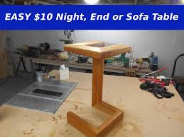 easy 10 night end or sofa table youtube
