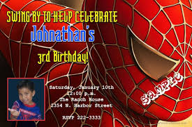 spiderman birthday invitations head