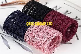 navy blue lace ribbon 4cm navy blue lace ribbon net ribbon for headband hair accessory