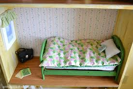 Dollhouse Bed For Girls by American Doll Sized Dollhouse At The Picket Fence