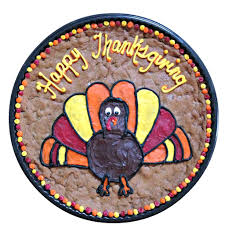 turkey design thanksgiving cookie cake the great cookie