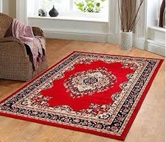 Carpet Area Rug Traditional Oriental Medallion Area Rug Persian Style Carpet Black