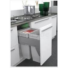 meuble poubelle cuisine poubelle bac grande capacité 70 litres la quincaillerie du