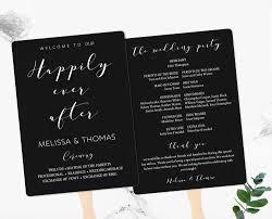 wedding program fan template chalkboard wedding program fan and flat template