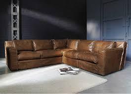 le monde du canapé canapé d angle vintage 4 places morrison en cuir cognac canapé