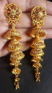 bridal jhumka earrings gold plated 5 steps 3 indian bridal jhumka earrings