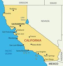 Map Of Nevada And Surrounding States California Satellite Map