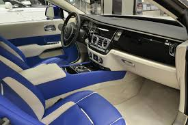 Blue And White Rolls Royce Wraith Is Bespoke To Its Core