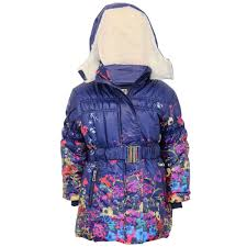 girls padded jacket kids coat quilted polka dot hooded sherpa