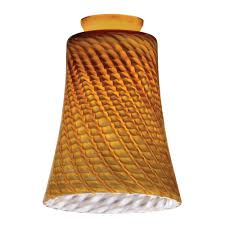 amber twt concave bell shade n pdnt