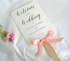 ceremony fans wedding fan wedding program fans coral ivory rustic