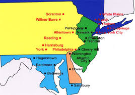map of maryland delaware and new jersey carl foehner associates manufacturers representative covering