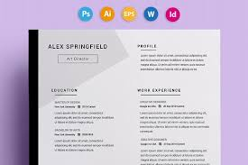 Art Resumes Artsy Resume Templates 25 Awesome Cv Templates And Examples 3 25
