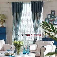 Window Length Curtains Bedroom Or Study Room Suitable Custom Length Curtains Buy Blue