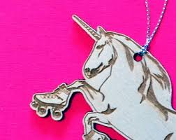 unicorn ornaments etsy