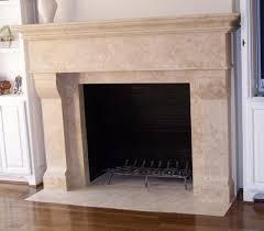 Travertine Fireplace Hearth - custom travertine fireplaces traditional dining room salt