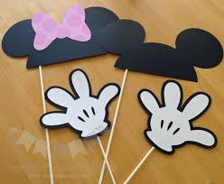 mickey mouse photo booth props 4 photo prop minnie and mickey mouse inspired photo props