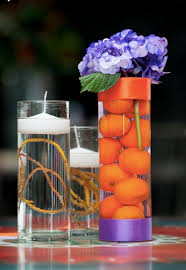 Vases With Flowers And Floating Candles Vase Trio