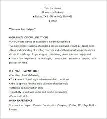 Construction Resume Template Apprentice Electrician Resume Exle Resume Templates