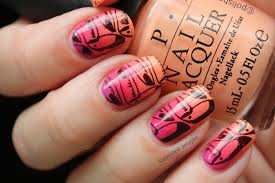 notd summery manicure with toucans u0026 sunsets polished polyglot