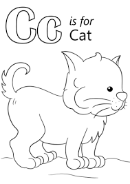 coloring pages for letter c letter c is for cat coloring page free printable coloring pages