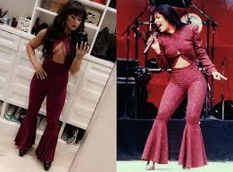 selena quintanilla purple jumpsuit costume demi lovato debuts selena quintanilla costume that s