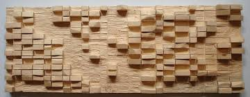 abstract geometric wooden wall sculpture carving sculpture by ton dias