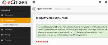how to apply for a kenyan passport on ecitizen hapakenya