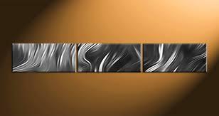3 piece grey abstract photo canvas
