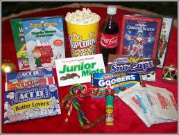 Christmas Gift Baskets Family Christmas Movie Night Gift Basket With Dvd Christmas