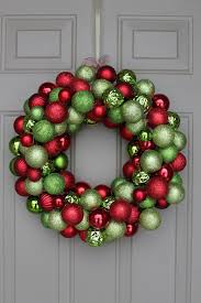 christmas wreaths to make christmas wreath with ornaments tabithabradley