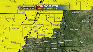 Tennessee Counties Map Tornado Watch Issued For Counties In West Tennessee Wbbj Tv